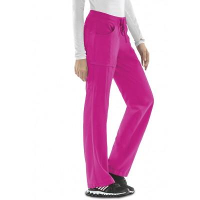 Pantalon à cordon Infinity rose carmin