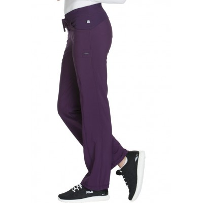 Pantalon à cordon Infinity aubergine