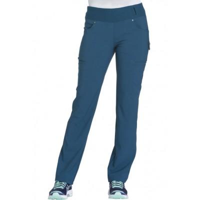 Pantalon taille élastique iFlex bleu Caraïbes