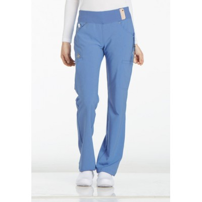 Pantalon taille élastique iFlex bleu ciel