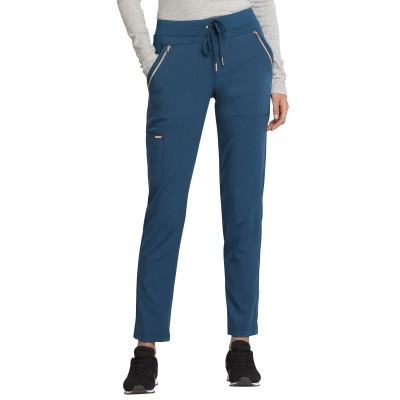 Pantalon à cordon à jambe étroite bleu caraïbe Cherokee
