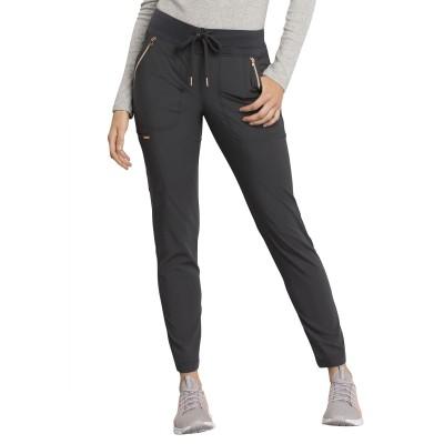 Pantalon à cordon à jambe étroite gris charbon Cherokee