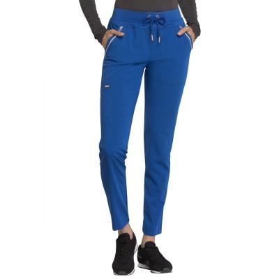 Pantalon à cordon à jambe étroite bleu royal Cherokee