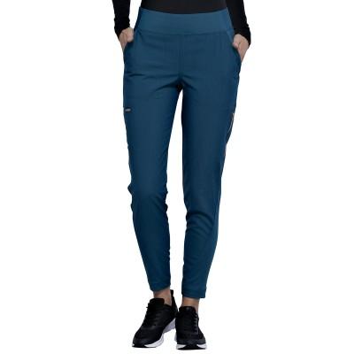 Pantalon à jambe étroite bleu caraïbes Cherokee