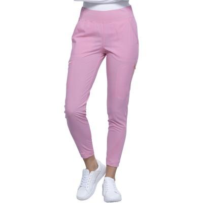 Pantalon à jambe étroite rose Cherokee